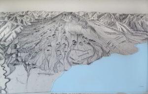 Ricostruzione grafica dell'Etna 4.000 anni fa - Kieffer 1973
